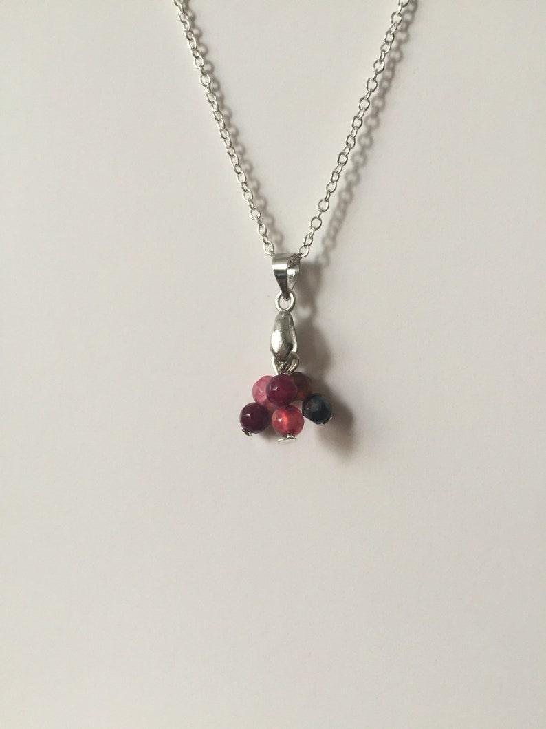Everyday necklace .Silver plated chain,gift for Birthdays . Tourmaline pendant .Prom Tourmaline necklace gift for Mother/'s Day