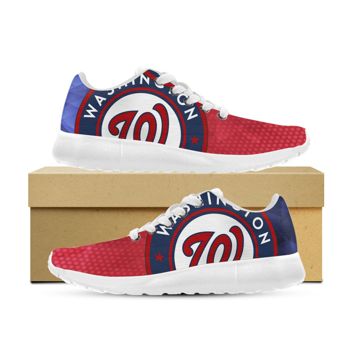 Washington Nationals Shoes Custom Printed Kids Sneakers Womens Mens and Kids Printed af71e0
