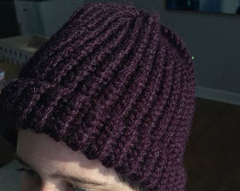 Knit Beanie (with rim)