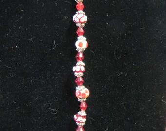 Bracelet Lampwork Beaded Handmade