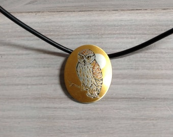 Reed and Barton stamped Owl necklace