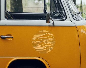 Aufkleber Berge Linien Sticker Autoaufkleber Wohnmobil Wohnwagen