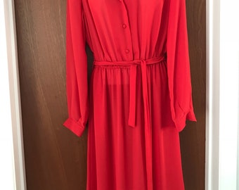 Stunning red work/office dress *Free shipping*