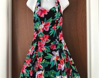 Vintage 80's Floral party dress