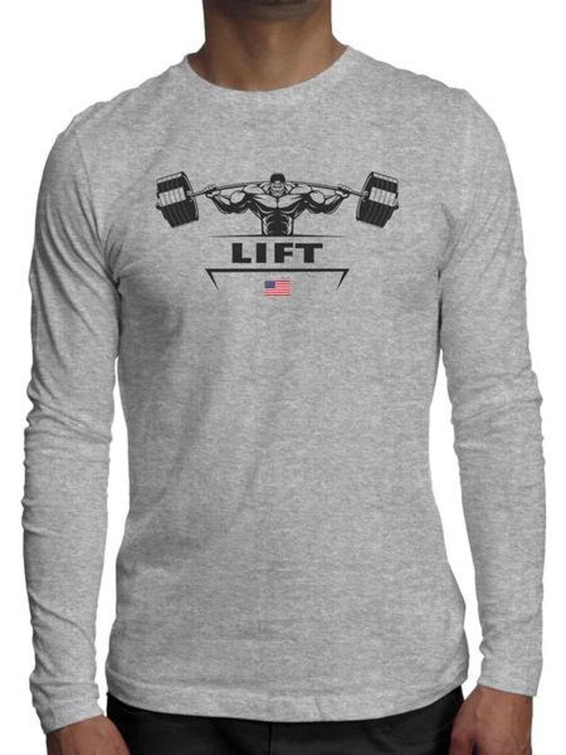 Weight Lifter Long Sleeve Shirt | Power Lifter Bodybuilder T Shirt |  Hardcore Gym Session Long Sleeve | Iron Addict Gains Trainer Shirt