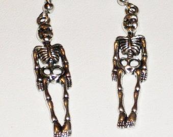 Dance of Death: skeleton earrings