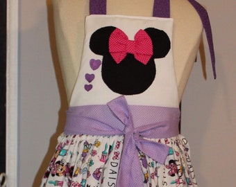 Minnie and Daisy girl apron