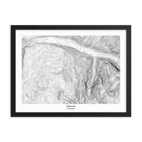 Telluride Ski Resort Topographic Map Colorado Features Local Etsy