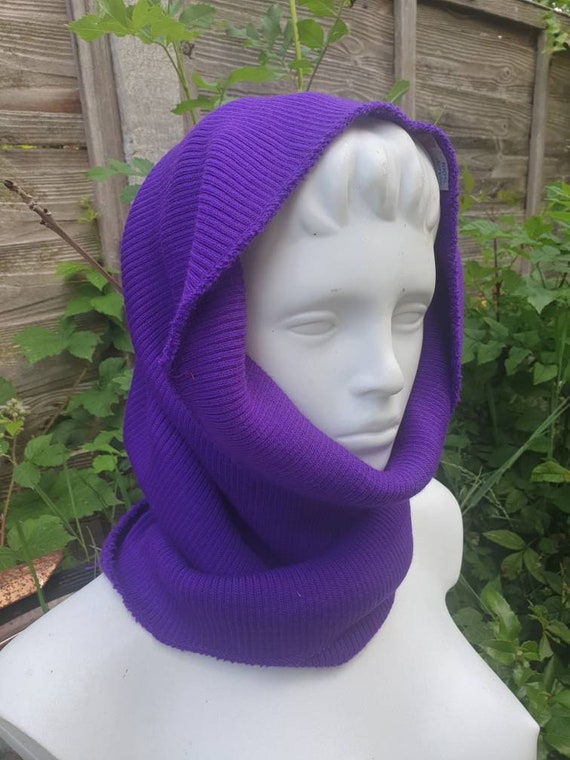 Vintage purple snood scarf
