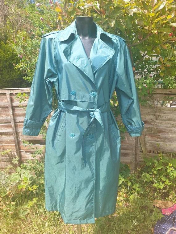Vintage 80's green Macintosh coat Size 12