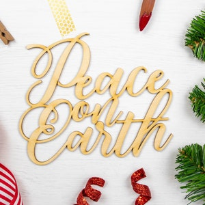 Wall Decor Wreath Supplies Merry and Bright Script Wood Word Cutout Unfinished Christmas Words Wood Holiday DIY Project