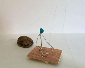 Turquoise ~ wire miniature