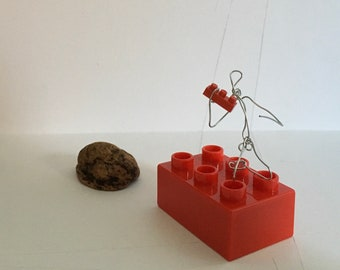 Lego Lover ~ wire miniature