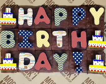 Happy Birthday Brownie Message Primary