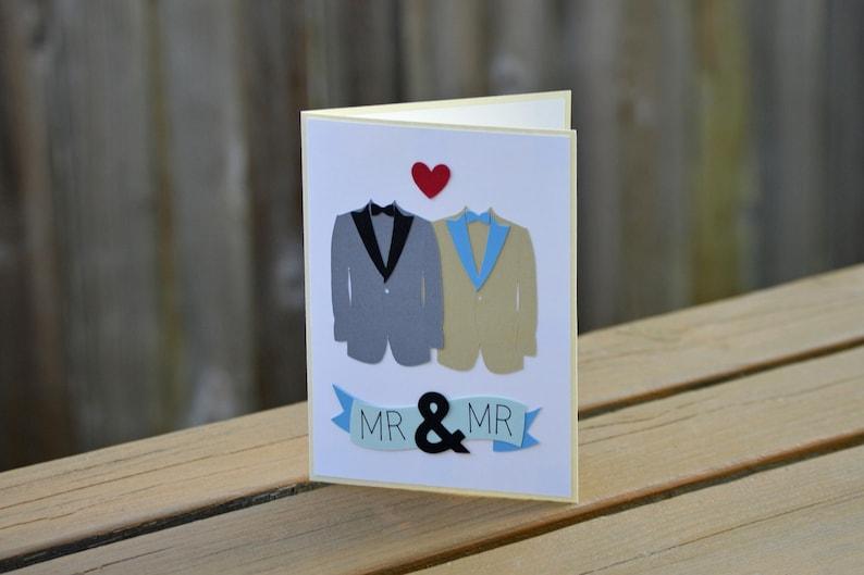 and Mr Mr Wedding Card