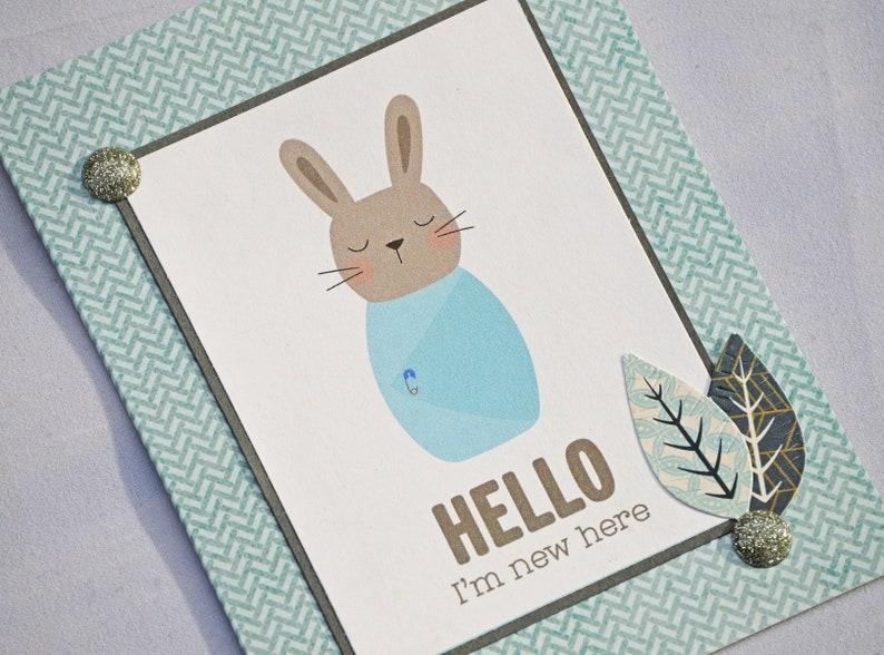 Baby Bunny Hello Card