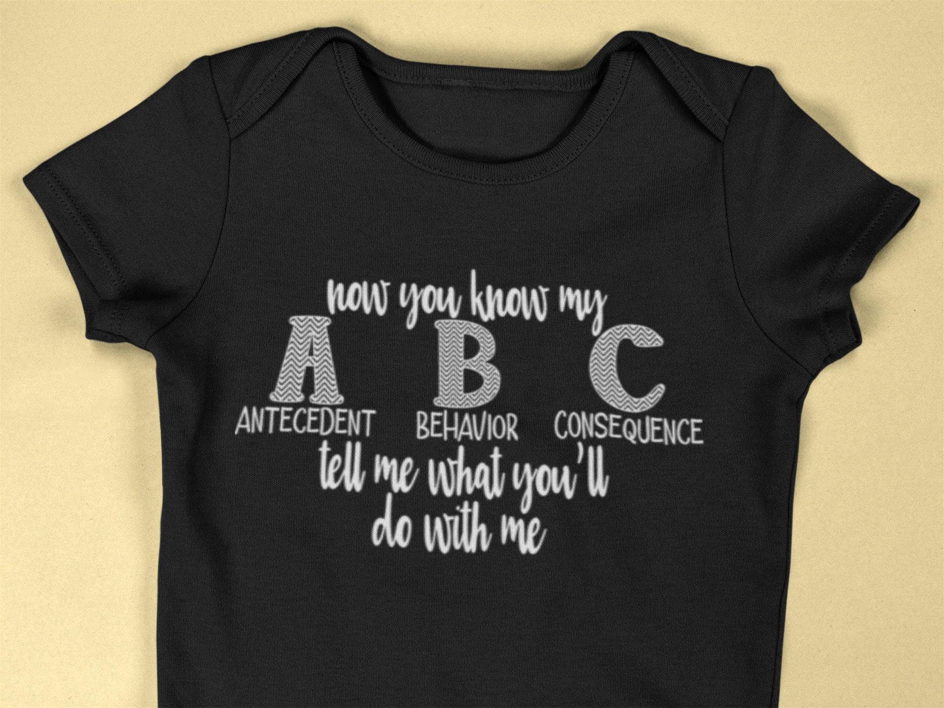 bd51e976b98 Infant ABC Shirt Infant Shirt Infant BCBA Shirt Gifts for | Etsy