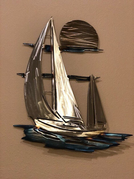 Metal Art Metal Wall Art Sailboat Wall Art Home Decor | Etsy