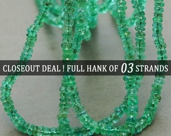 Natural Green Prehnite Faceted Rondelle Beads 8.5mm 13mm 16inches