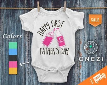 Father's Day Onesie® ღ Happy 1st Father's Day Onesie® Girl ღ Daddy Onesie® Girl