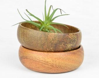 Vintage Small Wooden Bowls Set / Dip Bowls / Turned Wooden Bowls