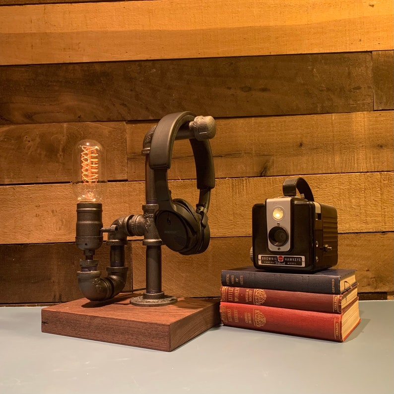 Headphone Stand Industrial Desk Accessories Industrial Etsy