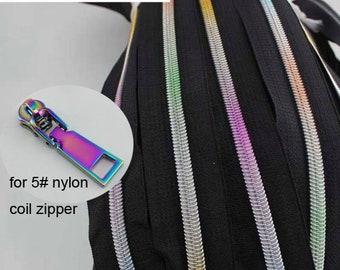 Bag Parts & Accessories 10 Pcs 50pcs 5# Bule Tone Metal Head Teeth Zipper Puller Slider Metal Accessory Bags Comfortable Feel