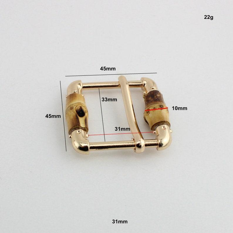 10-30-50pcs 33mm Nature Bamboo slider  buckle bagsbelts adjust buckle pipe buckles