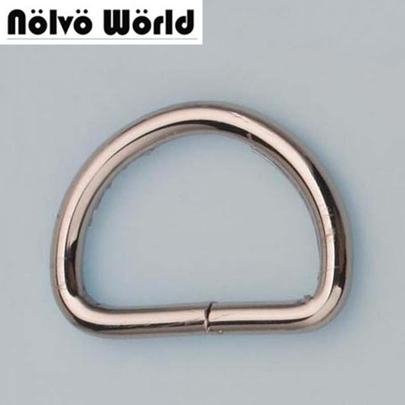 30pcs 5 colors 38*25mm 1.5 inch inside opened d ring belt buckle hardware,metal non welded d-ring