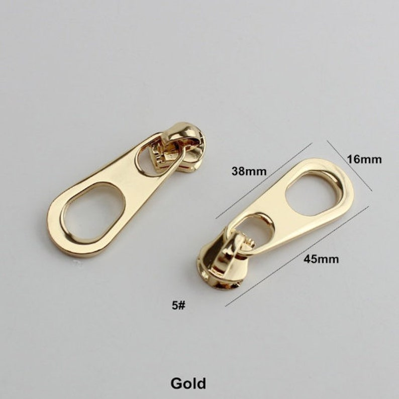 Luggage & Bags zipper Puller Slider Metal Plating Accessory Bags Garments Fabric United 10-50pcs Special Gold 5# Metal And Nylon Head Teeth