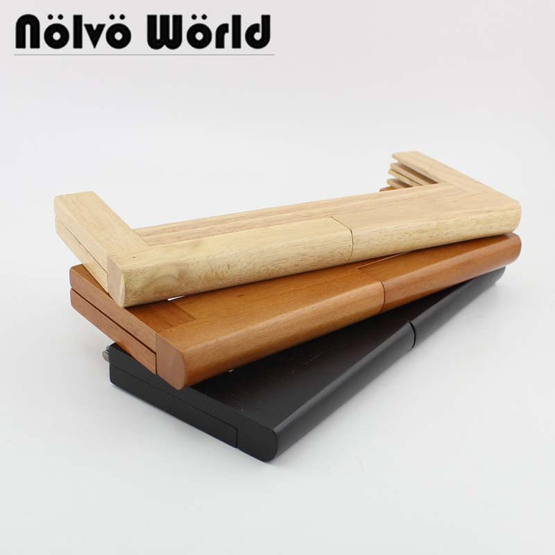 1 3 10 Pieces,28X11cm Big Size Solid Wood Frame For DIY Wooden 11 Inch Plus  Size Purse Frame Evening Bag Handle