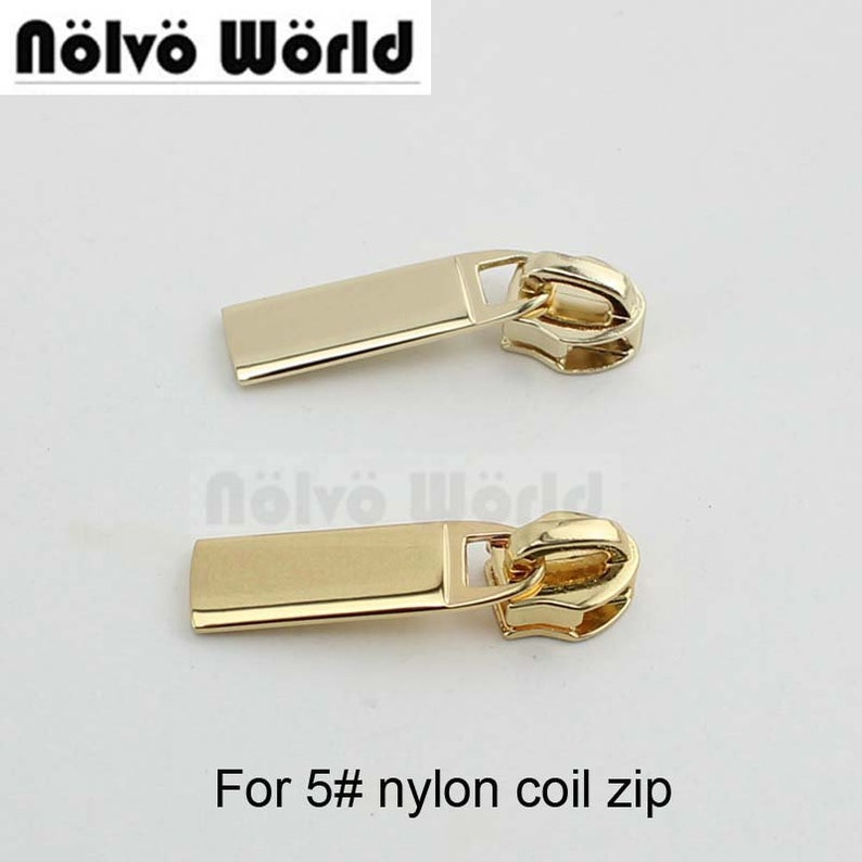 zipper Puller Slider Metal Plating Accessory Bags Garments Fabric Luggage & Bags United 10-50pcs Special Gold 5# Metal And Nylon Head Teeth