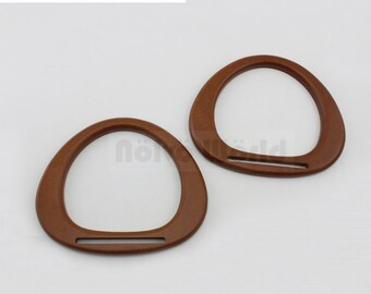 Free shipping,15*12.5cm plywood smile shaped handle,ladies summber beach purse wooden handles