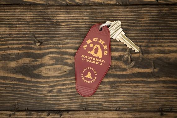 Arches National Park Retro Motel Key tag