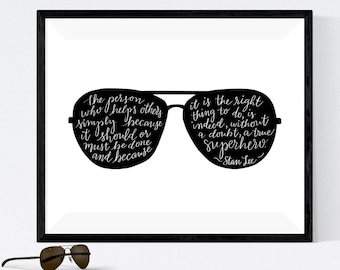 ed506bffe5 Stan Lee Quote Printable Wall Art