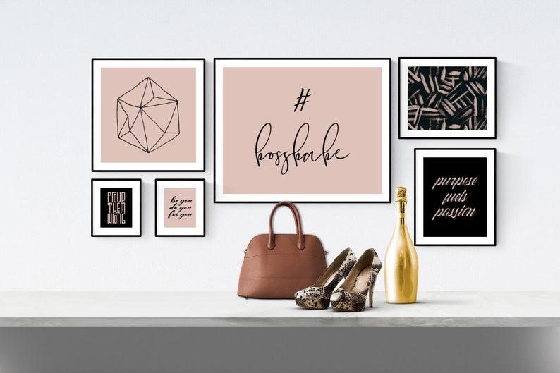 Girl Boss Gift Boss Babe Gift for New Office Set of Six image 0