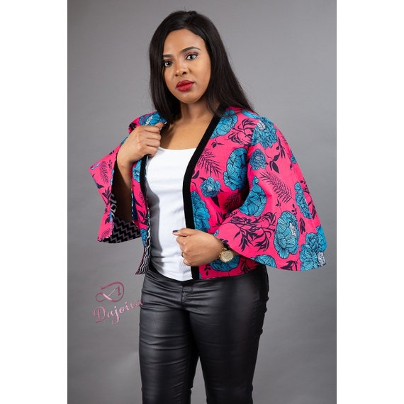Ankara Reversable Jacket Crop Jacket Ankara Jacket Ankara Style African Clothing Reversable 23