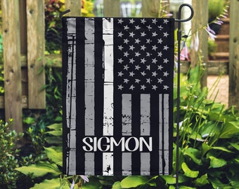 Thin White Line - Personalized Garden Flag - Emergency Services - Paramedic - EMT - Rescue Squad - Yard Flag