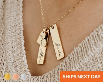 Custom Engraved Necklace Personalized Best Friend Gifts Multiple Kids Names for Mom Mothers Handmade Jewelry Bridesmaid Sister Gift
