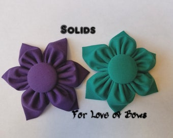 Handmade Fabric Flower Bows