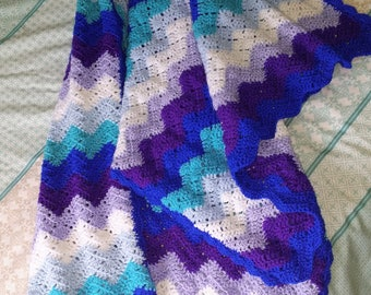 Ocean Waves Crochet Blanket