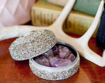 Raw Ametrine Tumbled Stone Crystal Grid Stones