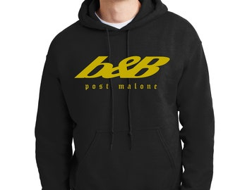 B&b Hoodie Post Malone Beer Bongs and Bentleys RAP Music Sweatshirt