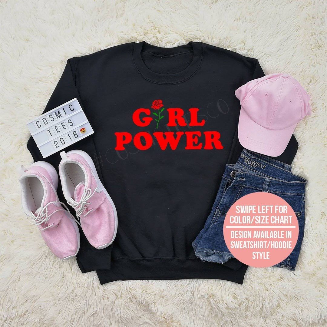 Sweat-shirt power Girl, girl power féministe, hoodie, grl pwr, pull ... 90ee4ce71627
