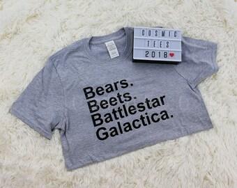 bears beets battlestar galactica shirt, dwight schrute, the office shirt, michael scott, funny dwight shirt, schrute farms, tv show tshirt