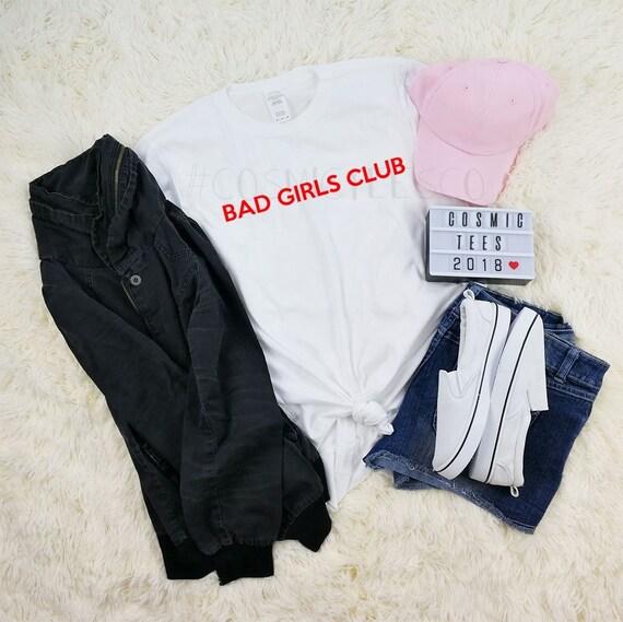 BAD GIRLS CLUB TEE T SHIRT TOP WOMENS TUMBLR HIPSTER GRUNGE FEMINIST FASHION BFF