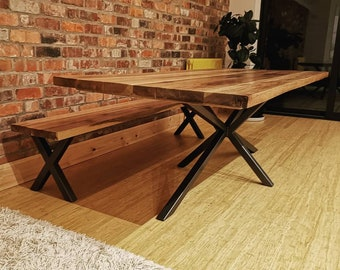 Magnificent Oak Dining Table Etsy Gmtry Best Dining Table And Chair Ideas Images Gmtryco
