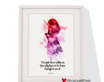Disney Princess Merida art print Instant Download