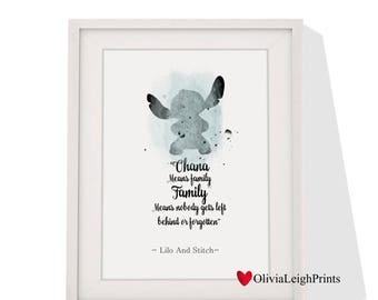 Disney Lilo And Stitch art print Instant Download