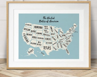Travel planner etsy usa map travel gumiabroncs Images